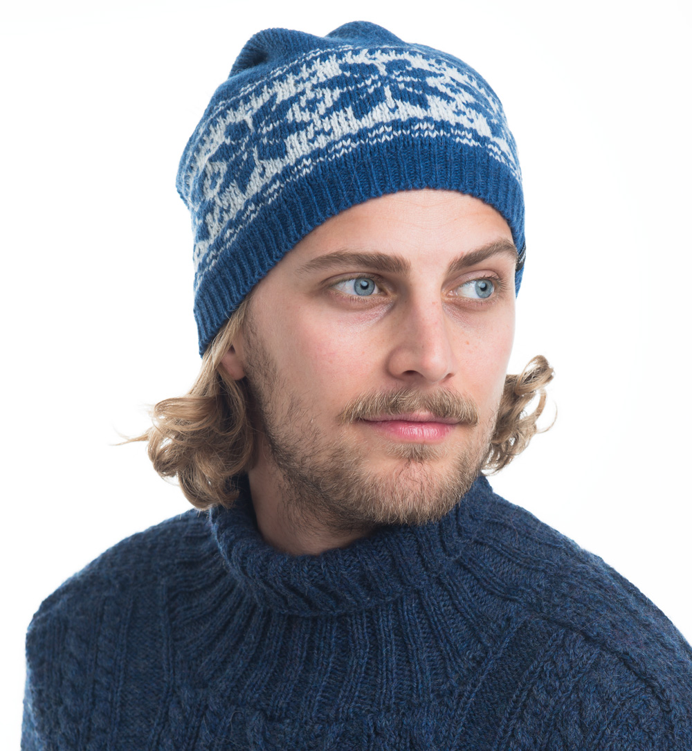 Nordic light, hat with reflex, blue
