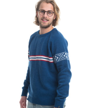 knitted sweater in jeansblue