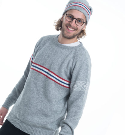 knitted sweater in lightgrey