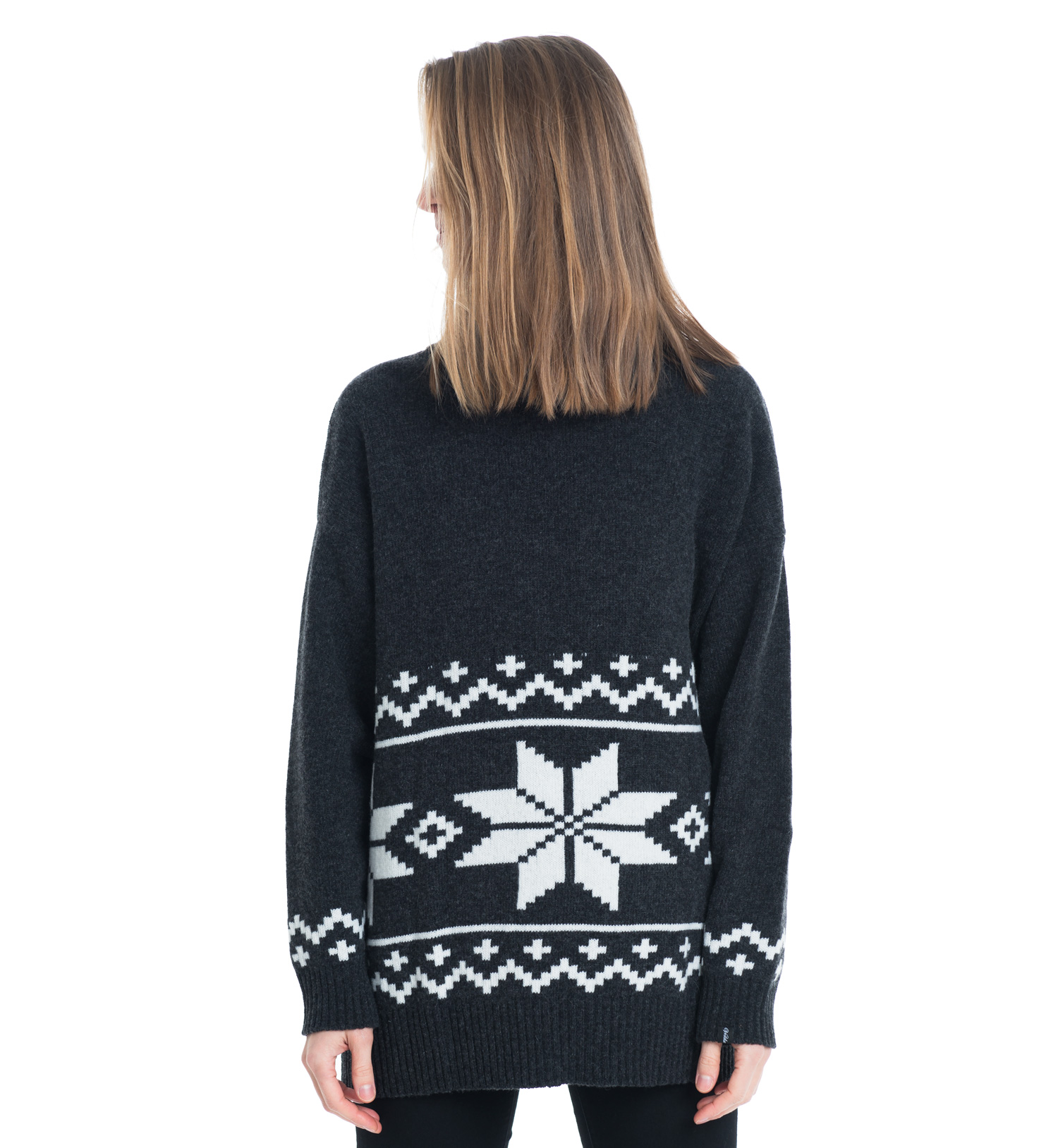 knitted sweater in charcole