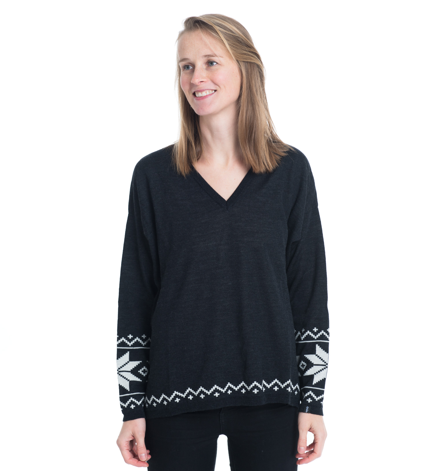 knitted sweater in black