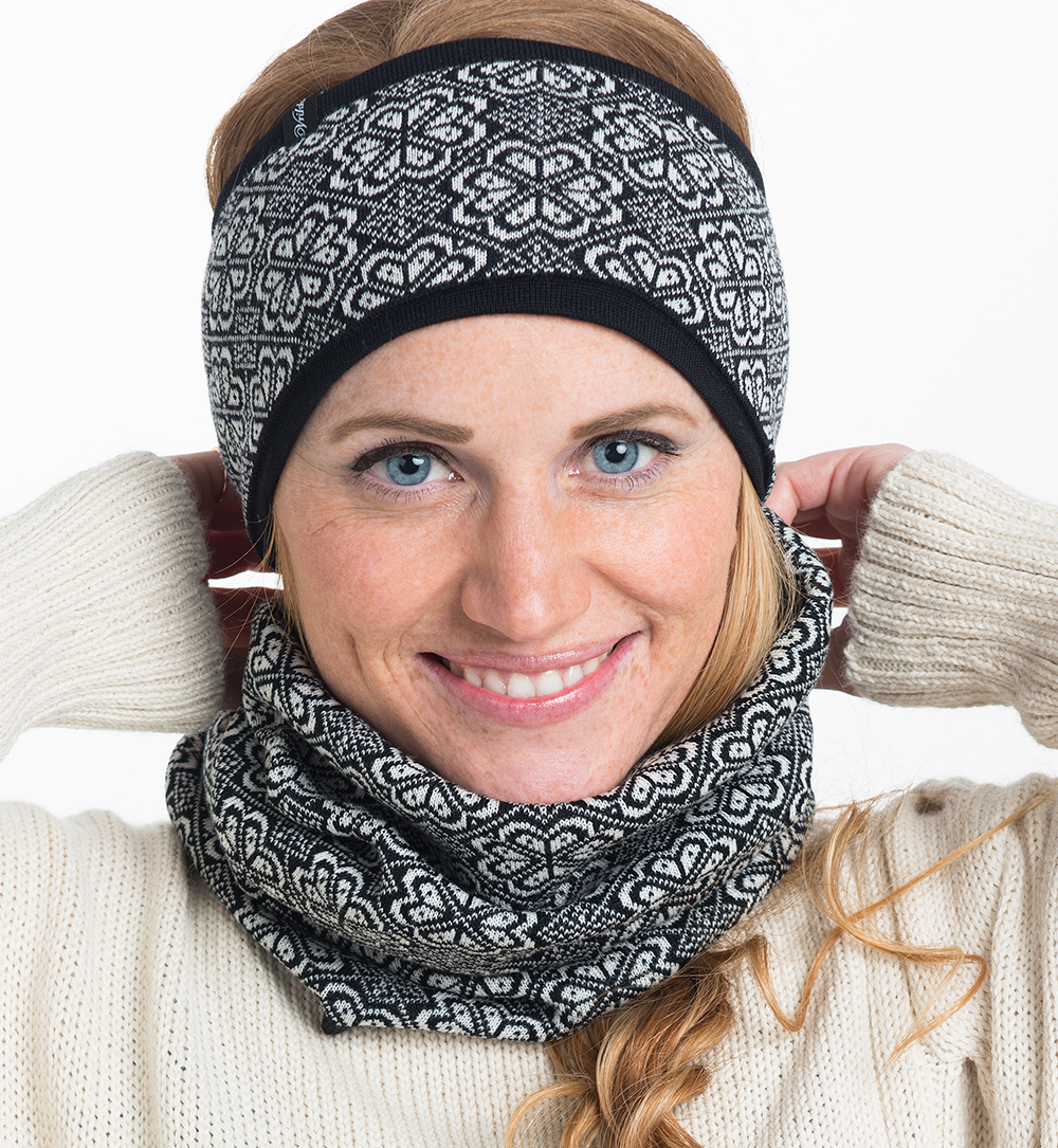 merinowool headband, black