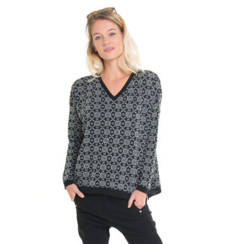 merinowool sweater in black