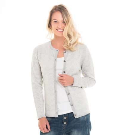 merinowool cardigan in lightgrey