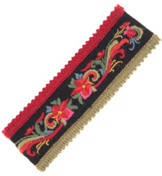 Headband with hand embroidery