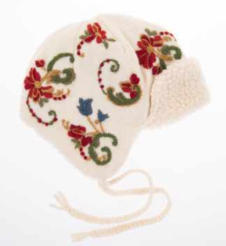 Hat with hand embroidery